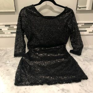 costa blanca black sequin mini dress